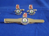 DUKE OF WELLINGTON'S WEST RIDING REGIMENT CUFF LINK AND TIE GRIP / CLIP  SET